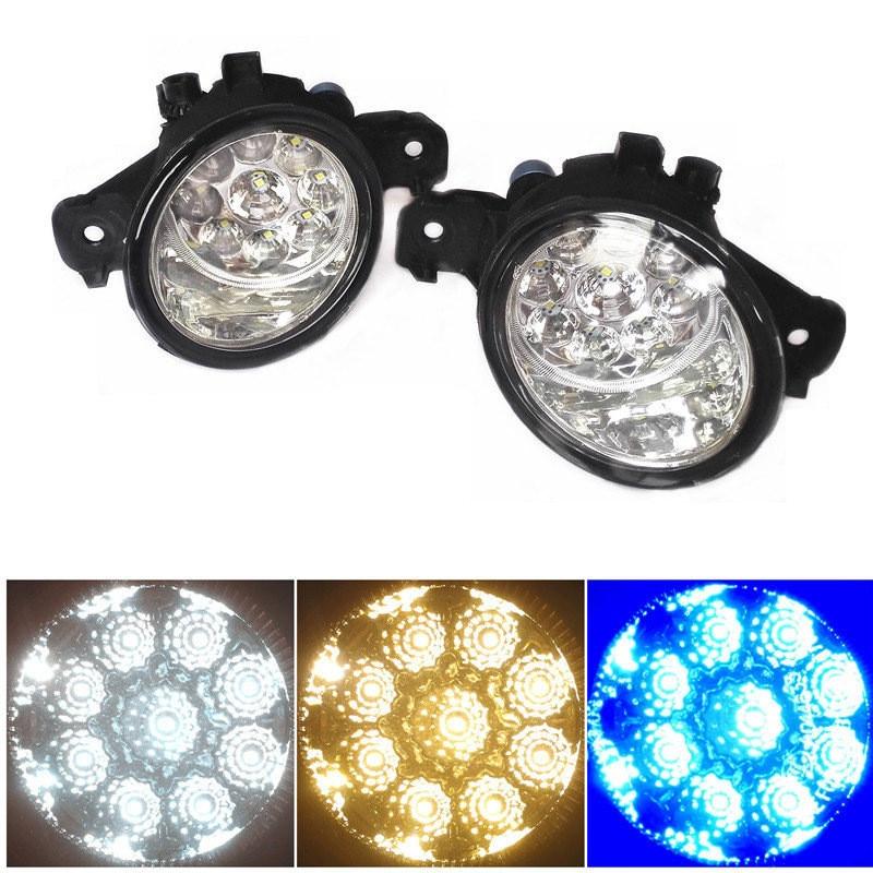 For NISSAN TEANA MICRA 4 DUALIS Elgrand Bluebird Presage Fuga GENISS 2002-2015 Led Fog Light-Emitting Diodes Fog Lamps купить бампер nissan almera n16