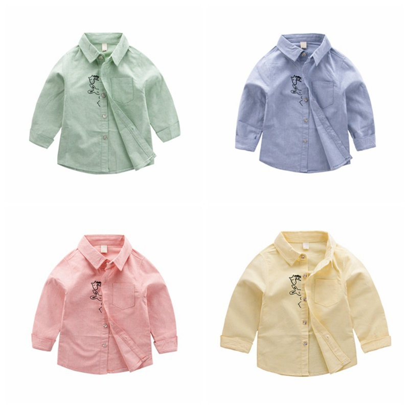 Baby Fashion Clothing Tops 2018 New Spring Autumn Boys Long Sleeve Shirts Children Casual Shirts 1-6Y T1