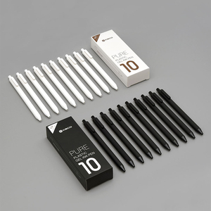 Image 2 - Xiaomi Mijia KACO ג ל עט 0.5mm שחור צבע דיו מילוי ABS פלסטיק עט לכתוב אורך 400MM בצורה חלקה Writting עבור משרד מחקר