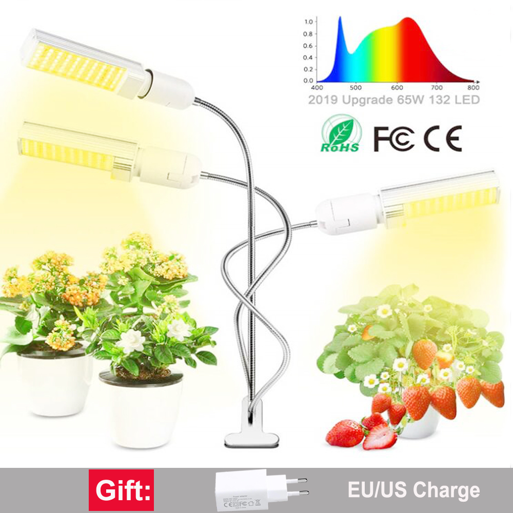 Full Spectrum LED Plant <font><b>Grow</b></font> Light Lamps E27 bulb phyto lamp For indoor Flower Plant Veg Hydroponics System <font><b>Grow</b></font> <font><b>Tent</b></font> image