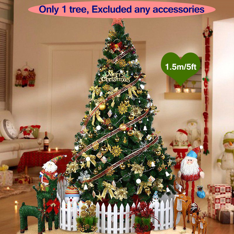 1.5 Meter 150CM Christmas Tree Christmas Decorations for home Artificial Decorations Xmas Tree For New Year Festival 300 Branch