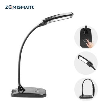 WiFi minuterie lampe de bureau réglable Alexa Google Home tuya vie intelligente manuel tactile contrôle noir LED lampe de Table avec Port USB