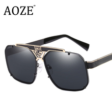 Men Sunglasses Women Couple Flat Top Luxury Brand Design Lad