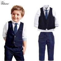 2017 3pcs Set Autumn Children S Leisure Clothing Sets Baby Boy Suit Vest Gentleman Clothes For