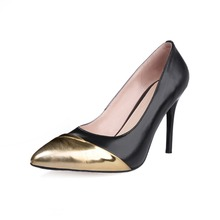 large size34-46 2016 new Fashion Sexy Pointed Toe Sweet Colorful Thin High Heels Hot Sale Women Shoes Women's Pumps Nude