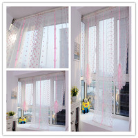 New Arrival 2016 Summer Prevent Anti Mosquito Curtains Home Flower Tulle Roamer Window Curtain Sheer Voile