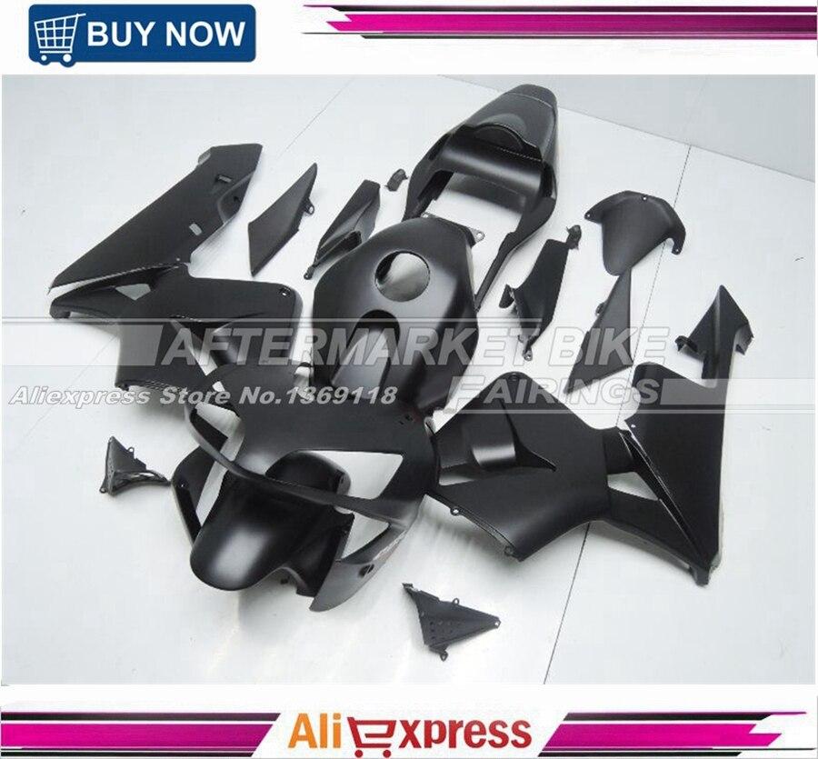 ALL-OEM-MATTE-BLACK CBR600RR 2003 2004 Kit de carenado para Honda 03 04 negro mate CBR600RR carenado cuerpo