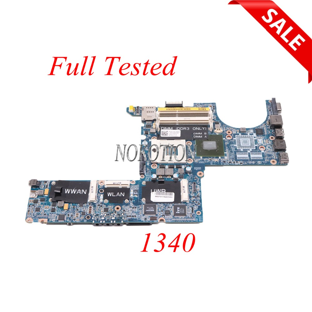 NOKOTION CN-0K172D 0K172D K172D DAOIM3MBAG0 laptop motherboard For dell XPS 1340 PP17S DDR3 Main board full tested original for dell 0x836m x836m poweredge r510 8 bay sas riser board backplane cn 0x836m fully tested