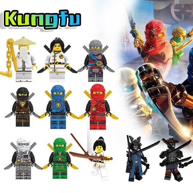 NINJA Figuras de Ação Filme Set Lloyd Dragões Brinquedos Para Crianças Blocos de Construção Compatível Livre LegoINGly Ninjagoes Nexus Presente