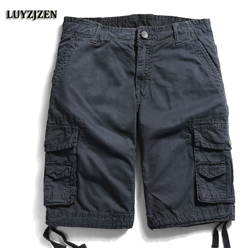 2017 Men Camouflage Multipocket Cargo Shorts Men Loose Military Shorts For Men Summer New Army Work Shorts Bermuda Cargo 29