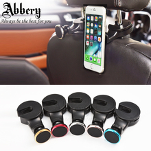 Abbery 360 Degree Rotating Metal Universal Car Headrest Auto Phone Mount Holder Magnetic Holder for iPhone 5S 6S 7plus Tablet PC