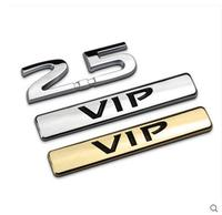 Auto Car Chrome Metal 2 5 VIP Trunk Emblem Badge Styling Sticker Fit For 2013 2014