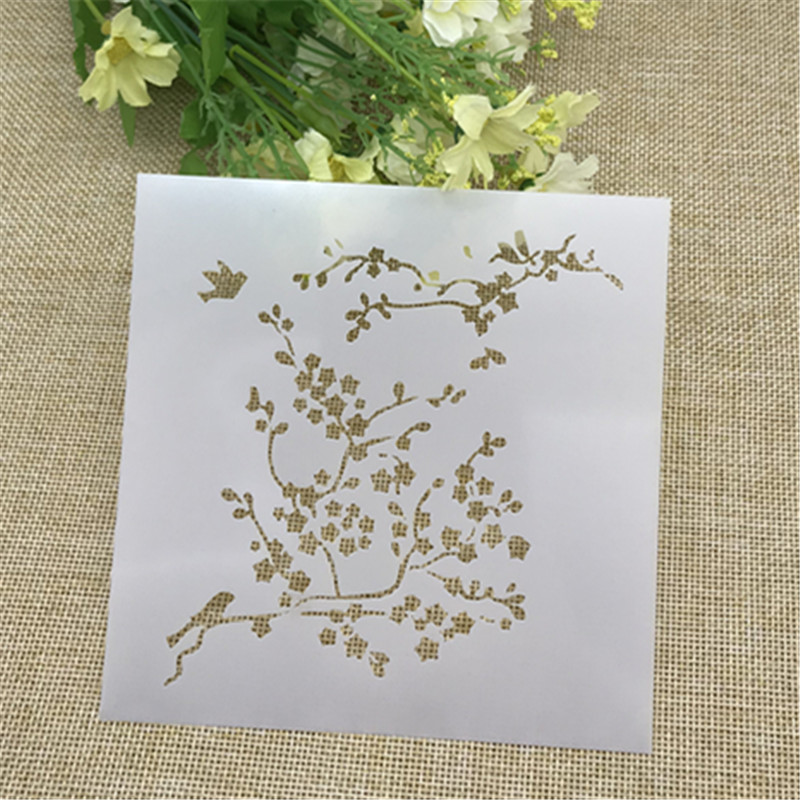 1 Sheet Spring Layering Stencils For DIY Scrapbooking/photo Album Decorative Embossing DIY Paper Cards Crafts