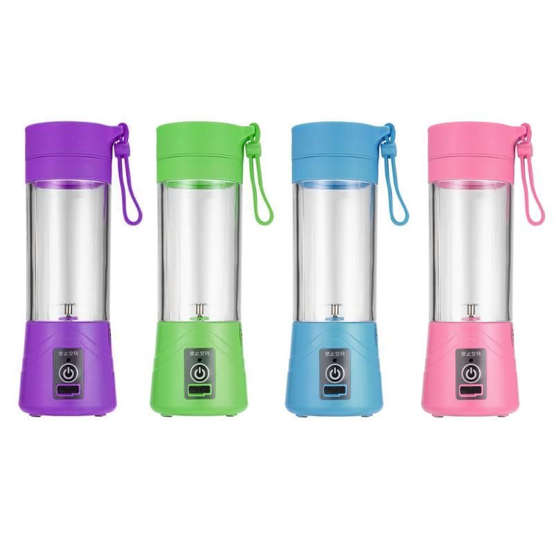 400ml USB Mini Portable Juicer Bottle Juice Blender Power-driven Mini Home Use Portable  Blender Juicer Cup with 4 colors usb rechargeable 500ml healthy portable hydrogen rich water cup transparent glass bottle with lid