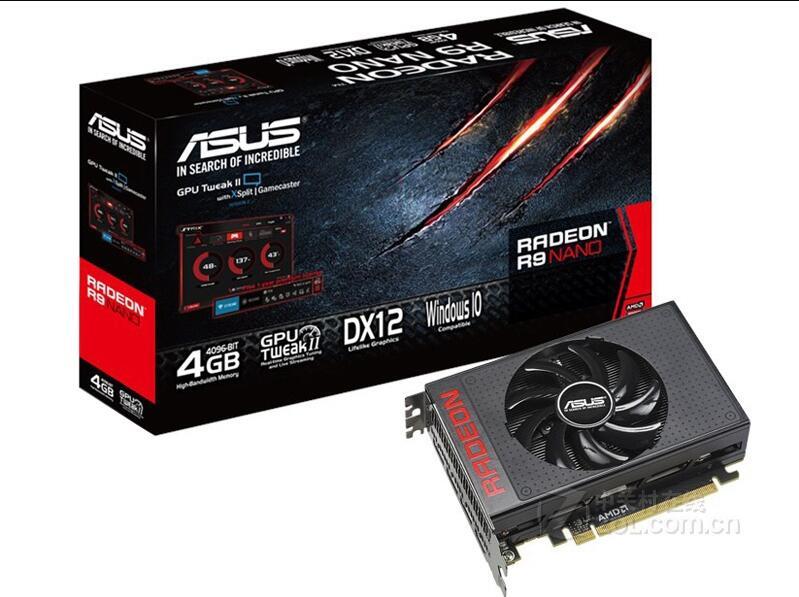Original ASUS Radeon R9 NANO 4G 3DP/HDMI HD petit châssis dédié graphique de jeu court