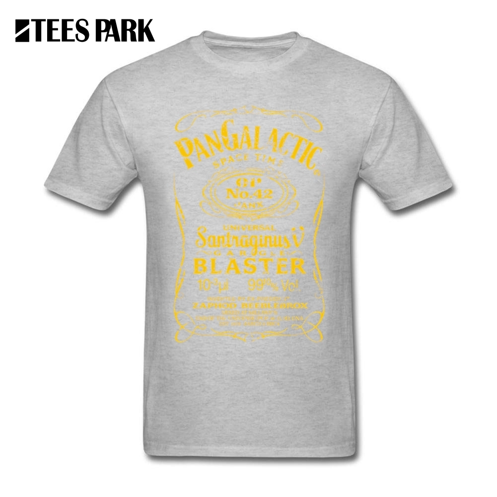 T Shirt Casual Pan Galactic Gargle Blaster No. 42 HONEY Man Short Sleeve Big Size Cotton Tees 2017 New Men Funny Graphic T-Shirt