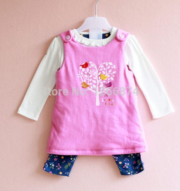 3 PCS Winter baby clothing 2014 new baby girl sets...