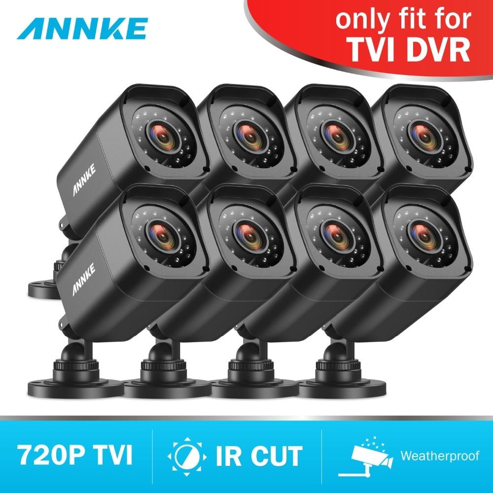ANNKE 8pieces Camera Kit HD 720P TVI Bullet Camera Night Vision IP66 Outdoor Smart IR Security Surveillance CCTV System for DVR цена в Москве и Питере