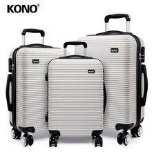 462a9b6bf KONO equipaje maleta Trolley caso bolsa de viaje Rolling ligero en 4 ruedas  Spinner Hardside 20 24 28 pulgadas conjunto k6676L