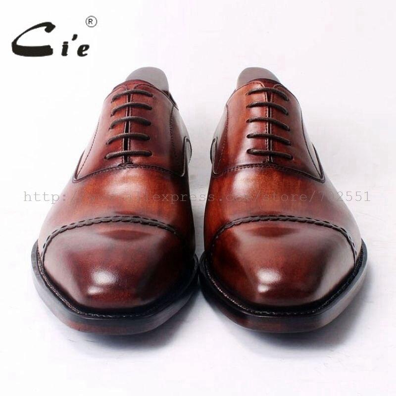 Cie Platz Cap Toe Lace Up Oxfords Bespoke Lederschuh Handgemachten Männer Lederschuh 100% Echte Kalbsleder Rahmengenäht OX321-in Formelle Schuhe aus Schuhe bei  Gruppe 3