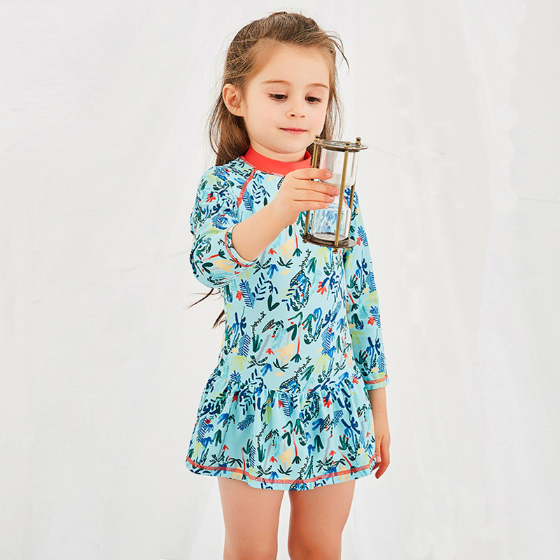 Sexy Bikini Kids Swimming Suit Junior Girls Swimsuit Swimwear Summer 2018 New Children Girl Dress Zipper Surfing 28043 Animal