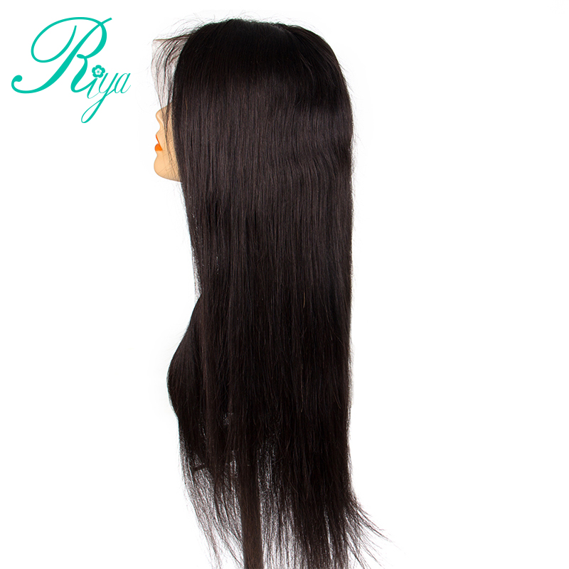 13x6 Lace Front Human Hair Wigs With Baby Hair 150% Density Brazilian Straight Lace Front Wigs Remy Hair Bleached Knots