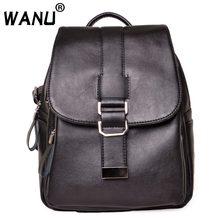 WANU рюкзак женский бренд из мягкой кожи женский рюкзак большой емкости школьная сумка для девочек сумки на плечо для женщин жена