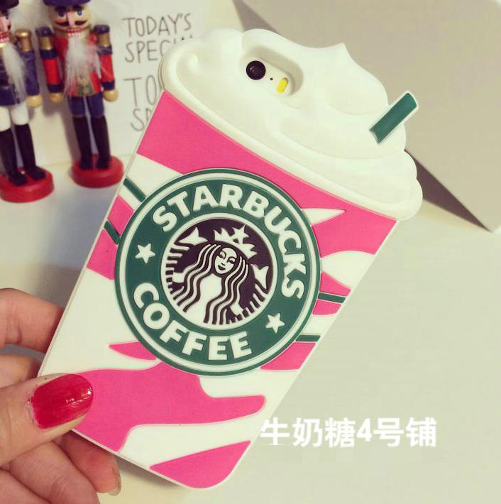 1PCS,Luxury Brand Fashion Starbucks Coffee Silicone Case Iphone 6 Plus,4 colors, - Shenzhen DYD Technology Co., Ltd. store