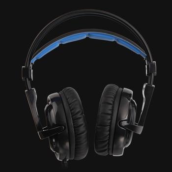 SADES Locust Plus Headphones 7.1 Surround Sound Headset elastic suspension Headband Earphones with RGB LED Light for PC/Laptop 5