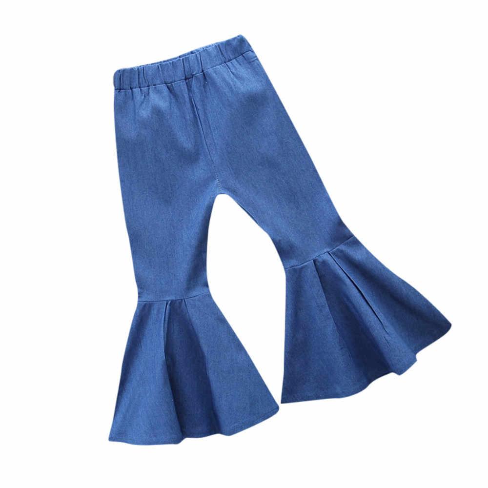 Летняя одежда для маленьких девочек; коллекция 2018 года; детская летняя джинсовая одежда для маленьких мальчиков и девочек; джинсы; брюки; Прямая поставка