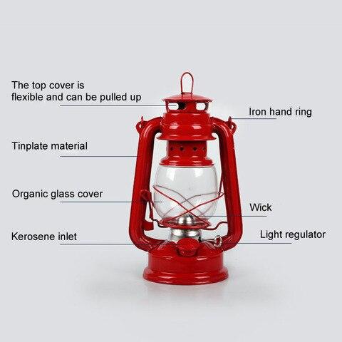 retro classico querosene lampada 4 cores querosene