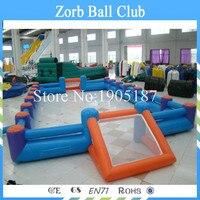 Бесплатная доставка 14x7 м надувные Футбол/Футбол поле для продажи, надувные Футбол суд, надувные Мыло Футбол поле