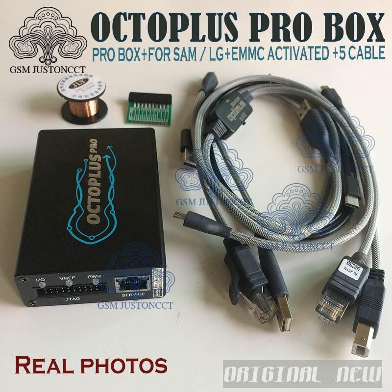 2018 Nouvelle Version D'origine Octoplus Pro Boîte + 5 Câble (8 dans 1 set) pour Samsung pour LG + mem/JTAG Activé