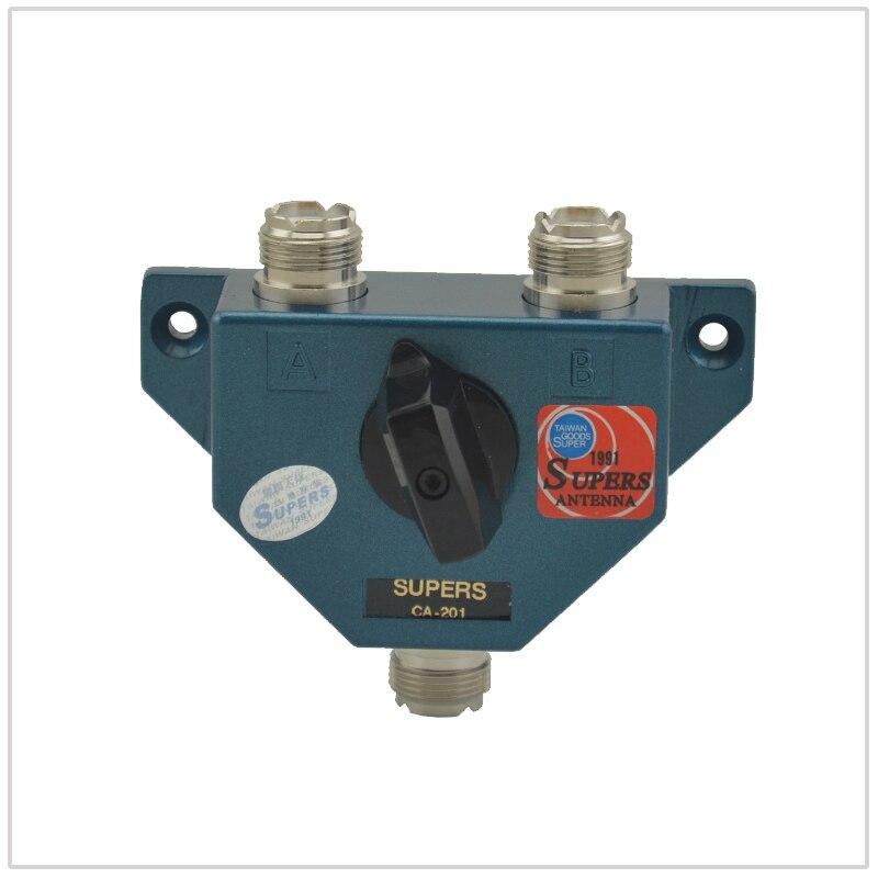Commutateurs coaxiaux SUPERS CA-201 1.8-600 MHz pour Radios bidirectionnelles Ham