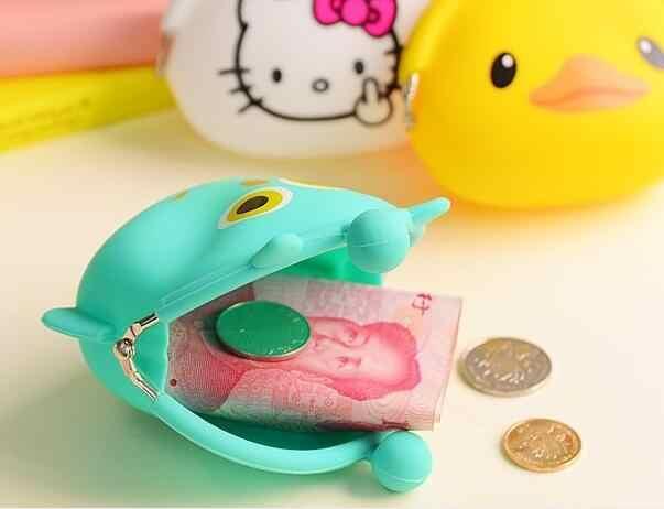 2016 Hot 3D kawaii Dễ Thương Cartoon Animal Silicone Coin Purse ví Cao Su Purse Túi trường hợp đồng tiền kids wallet cô gái thời trang túi