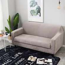 1pc Plush Thicken Elastic Sofa Cover Universal Sectional Throw Couch Corner Cover Cases for Furniture Armchairs Sofa Slipcovers
