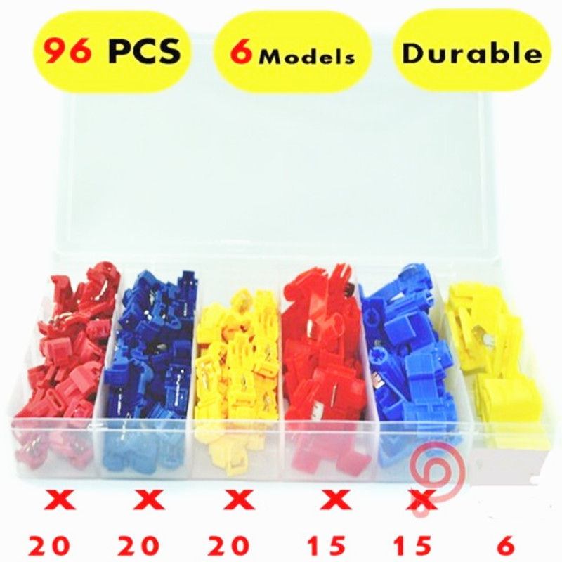 96PCS quick splice  lock wire connectors red blue yellow CONNECTOR TERMINAL KIT scotch p0014