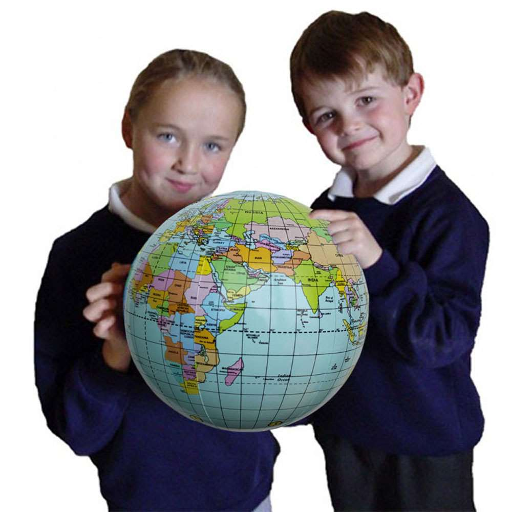 Inflatable globe toy ball baby early educational teaching tool inflatable globe toy ball baby early educational teaching tool inflated beach ball kids learning and playing geography world map in toy balls from toys gumiabroncs Images