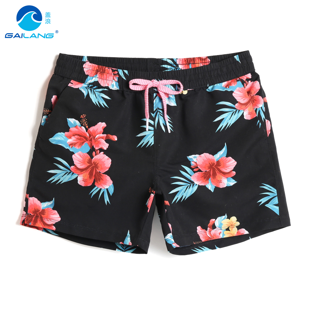 New Summer female's Swimming trunks swimsuit joggers printed breathable quick dry surfing swimwear   board     shorts   briefs mesh