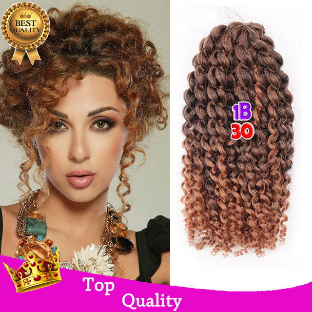 8inch Curly Braiding Hair Extensions Ombre Freetress Curly Crochet