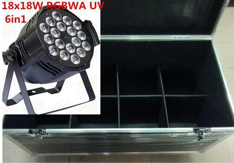 10X 18x18W LED Par with flightcase+1M  DJ dmx  Led Par Light RGBWA 5in1 LED Luxury DMX 8 Channels Led Flat Par Lights10X 18x18W LED Par with flightcase+1M  DJ dmx  Led Par Light RGBWA 5in1 LED Luxury DMX 8 Channels Led Flat Par Lights