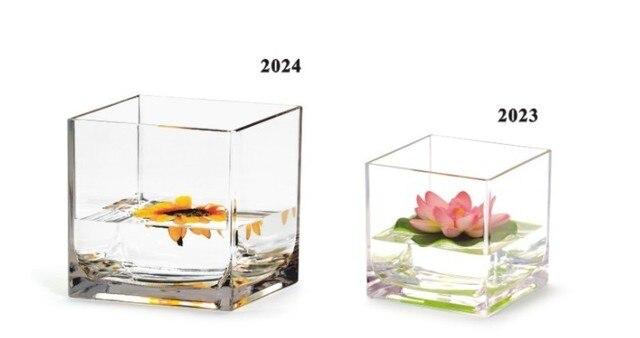 Acrylic Square Flower Vase Box Plexiglass Clear Flower Display Box