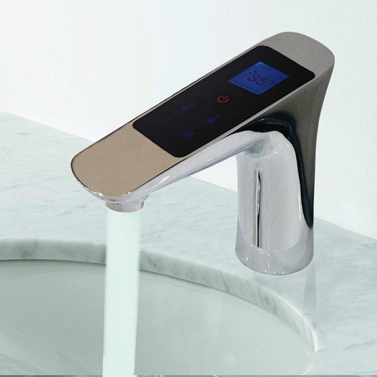 Термостат Цифровой кран термостат Температура потока Управление ЖК дисплей Сенсорный экран smart digital термостат кран