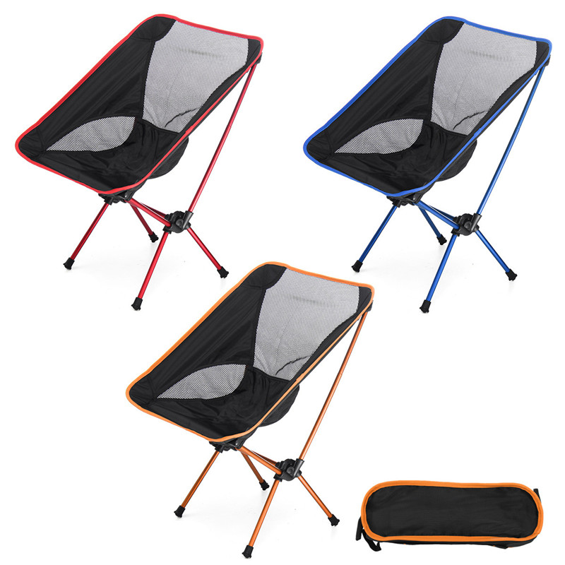 Portable Lightweight Folding Camping Stool Foldable Fishing Chair Seat with Backpack For Fishing Picnic BBQ Beach Cycling Hiking 1pcs lightweight folding fishing chair portable camping stool seat foldable chairs seat for fishing pesca picnic beach party bbq
