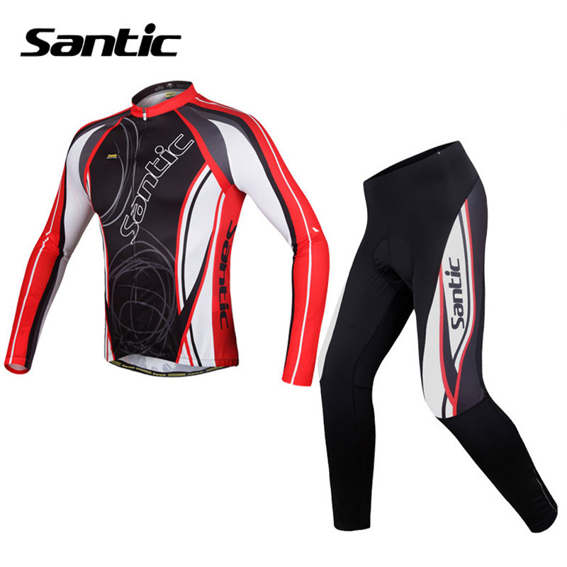 New Santic Men Cycling Jersey Breathable Pro Padded Racing Bike Sportswear MTB Downhill Mountain Road Bicycle Apparel Ciclismo