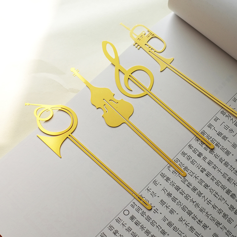 Bookmark Analytical 4pcs/lot Metal Musical Instruments Shape Bookmark Note Paper Folder Office School Supplies Stationery Children Novelty Gifts Labels, Indexes & Stamps