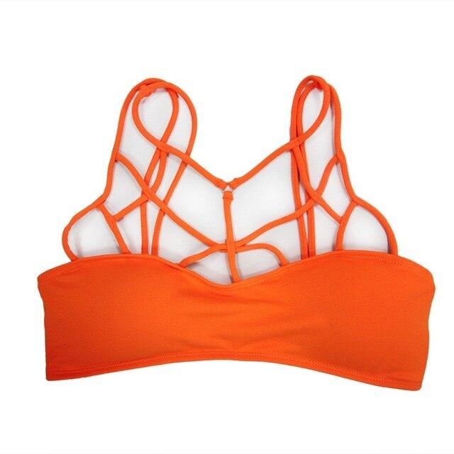 d43d096f673d3 Ladies Mesh Cotton Strappy Tops Separate Bralette Women Bandage Bathing  Suit Beach Wear Top Girls Bra S M L XL