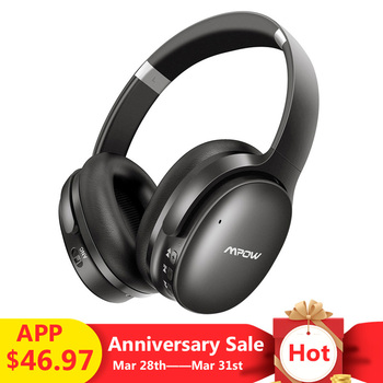 Mpow H10 Active Noise Cancelling Bluetooth Wireless Headphones 18-25H Playing Time ANC Headset With Mic For iPhone Huawei Xiaomi