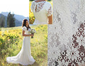 Sheath Lace Wedding Dresses 2016 Short Sleeve V Neck Sweep Train Belt Bridal Gowns Romantic Custom Made Vestido De Noiva