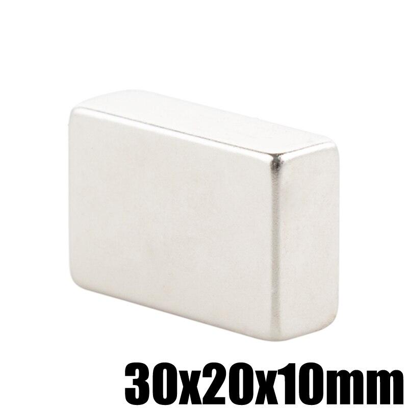 1 Piece 30x20x10 Neodymium Magnet Block 30mm x 20mm x 10mm N35 Permanent Super Strong Powerful NeFeB Magnetic Magnets Square 1 piece 300x 140x 20mm 8 x 3w   20 x 1w